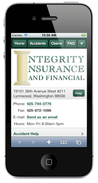 m.integrityinsuranceandfinancial.com website preview